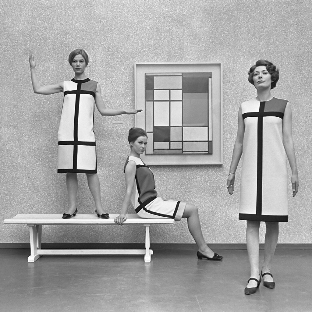 Yves Saint Laurent dresses from the Mondrian collection, 1965