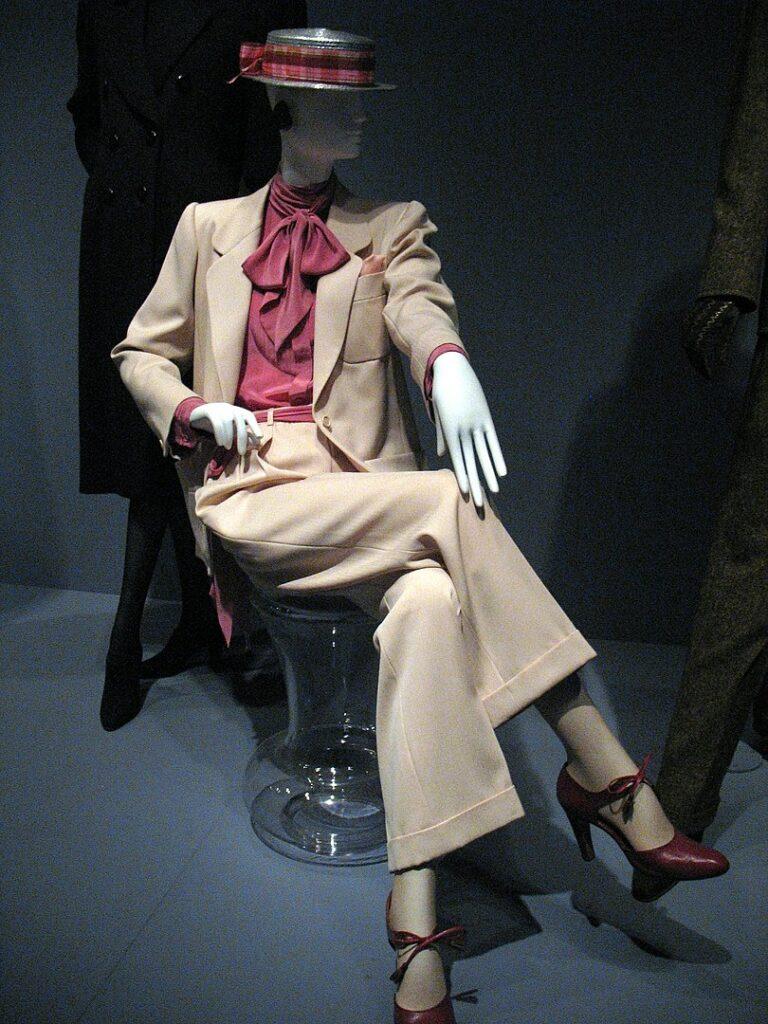 A lady's trouser suit by Yves Saint Laurent