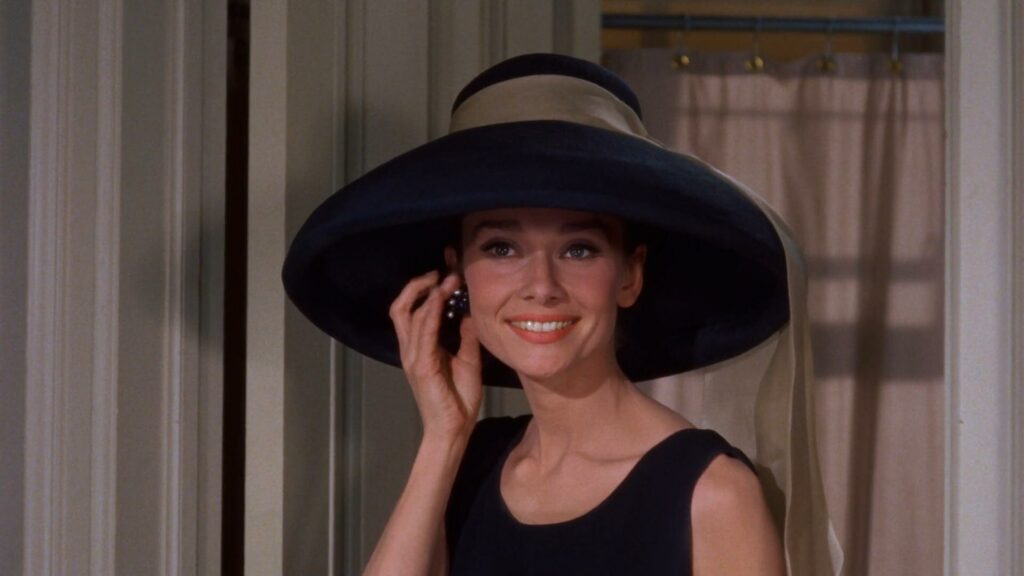 Hat for Audrey Hepburn in Breakfast at Tiffany's designed by Givenchy.