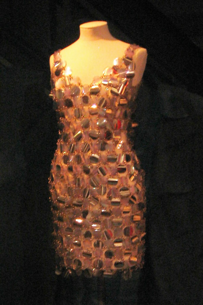 Paco Rabanne metal and plastic dress, 1967