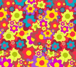 1960s psychedelic flowers
