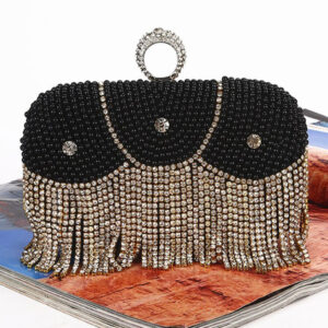 1920s Great Gatsby Accessory Flapper Dress Accessories Silver Studded Chains Women Clutch Bags