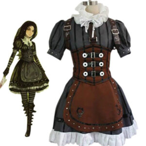 Alice: Madness Returns Alice Halloween Cosplay Costume Steampunk Dress Halloween