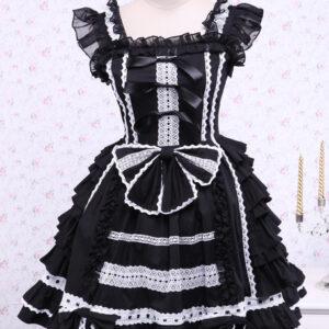 Bandage Lace Cotton Gothic Lolita Dress