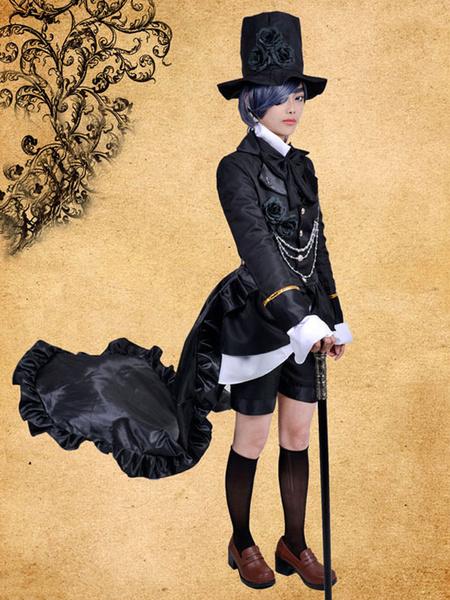 Black Butler Kuroshitsuji Ciel Phantomhive Cosplay Costume Steampunk Suit Halloween