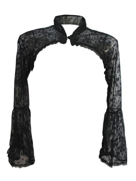 Black Gothic Shrug Bolero Jacket Lace Witch Short Jacket