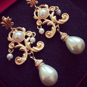 Flapper Dress Accessories 1920s Great Gatsby Earring White Pearls Flapper Dangle Earring