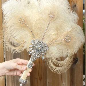 Flapper Dress Accessories Rhinestone Feather 1920s Great Gatsby Accessory Retro Fan Halloween