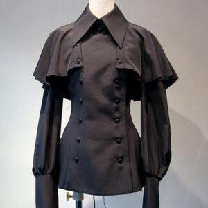 Gothic Lolita Blouses Lace Up Lolita Top Long Sleeves White Lolita Shirt
