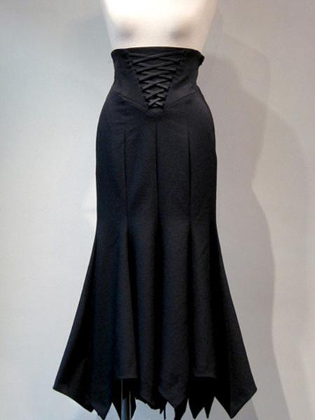 Gothic Lolita SK Black Lace Up Lolita Skirts