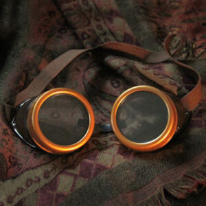Halloween Steampunk Vintage Glasses Brown Costume Accessory Halloween