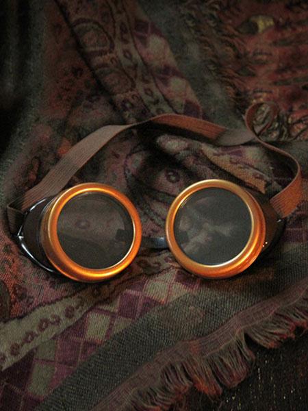 Halloween Steampunk Vintage Glasses Brown Costume Accessory Halloween