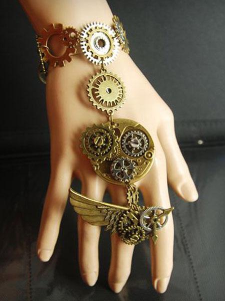 Steampunk Lolita Bracelet Metal Details Bronze Lolita Accessories