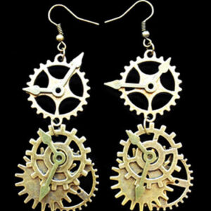 Steampunk Lolita Earrings Metal Details Gold Lolita Earrings