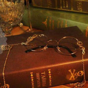 Steampunk Lolita Glasses Vintage Long Chains Gear Deco Retro Lolita Costume Accessories