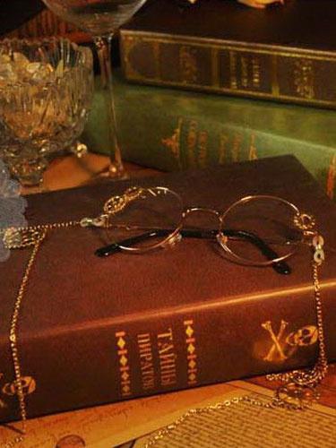 Steampunk Lolita Glasses Vintage Long Chains Gear Deco Retro Lolita Costume Accessories