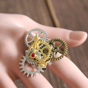 Steampunk Lolita Rings Bronze Metallic Lolita Rings