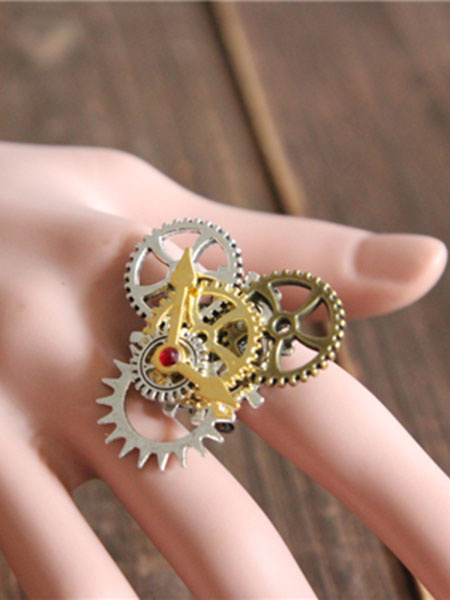 Steampunk Lolita Rings Bronze Metallic Lolita Rings