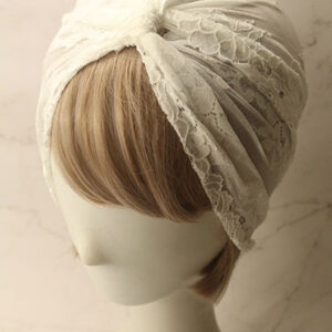 White Retro Costume Accessories Lace Flapper Dress Head Cloth 1920s Great Gatsby Headdress Halloween