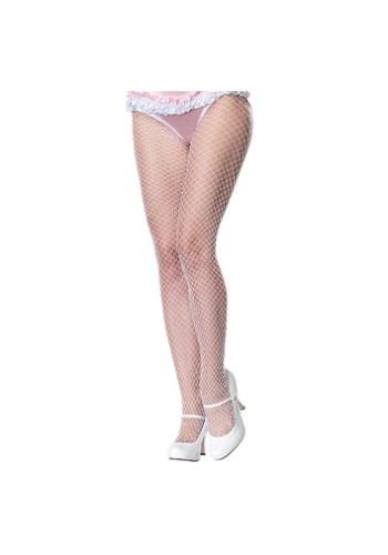 Adult White Fishnet Stockings