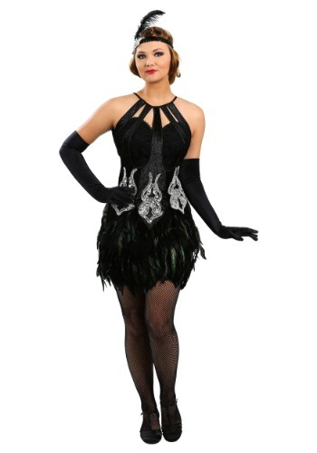 Feathered Showgirl Costume for Women