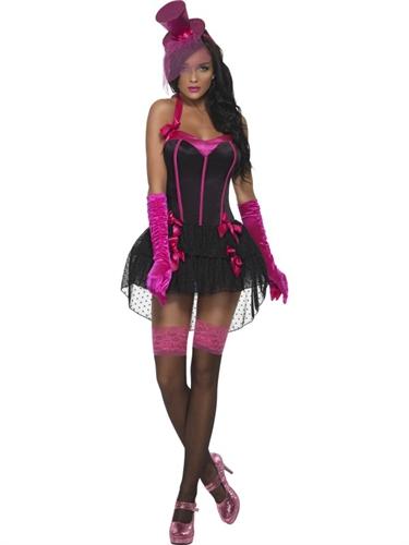 Fever Bow Burlesque Costume - Extra Small