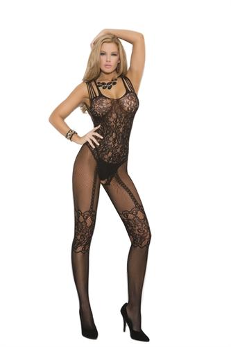 Fishnet Body Stocking - Queen Size - Black