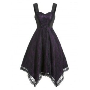 Lace Up Gothic Lace Cami Dress