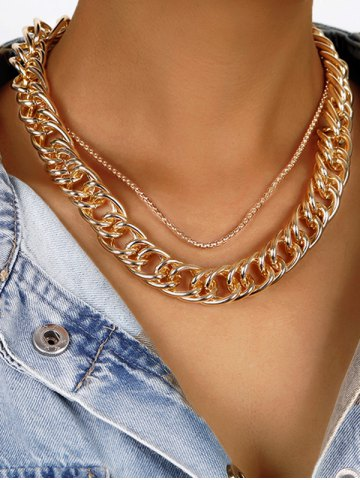 Alloy Layered Steampunk Necklace