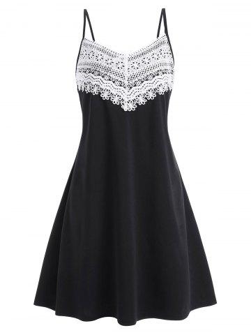 Applique Panel Plus Size Cami A Line Dress