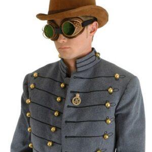 Brown Suede Coachman Steampunk Hat