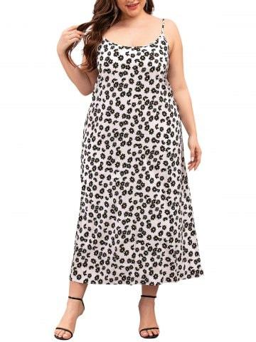 Cami Daisy Floral Plus Size Midi Dress