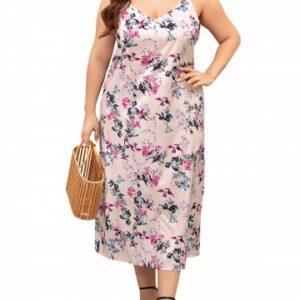 Cami Floral Plus Size Midi Dress