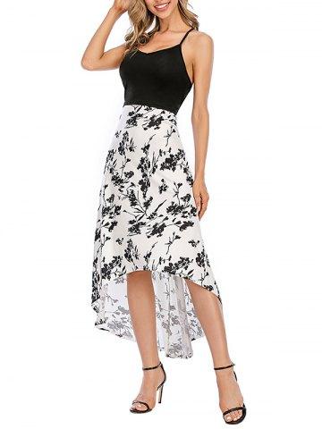 Floral Crisscross Maxi High Low Cami Dress