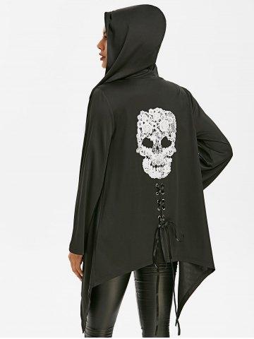 Halloween Skull Lace Asymmetric Gothic Jacket