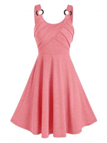 Plain O ring Cami A Line Dress