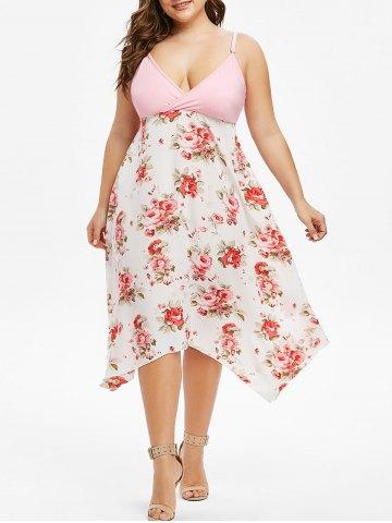 Plus Size Cami Floral Surplice Dress