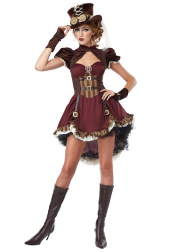 Plus Size Steampunk Lady Costume for Women