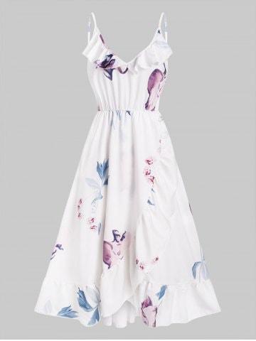 Ruffle Floral Cami Dress