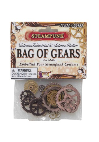 Steampunk Bag of Gears Accessory