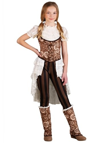 Victorian Steampunk Lady Costume for Girls