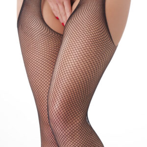 Black Open Top Fishnet Stockings