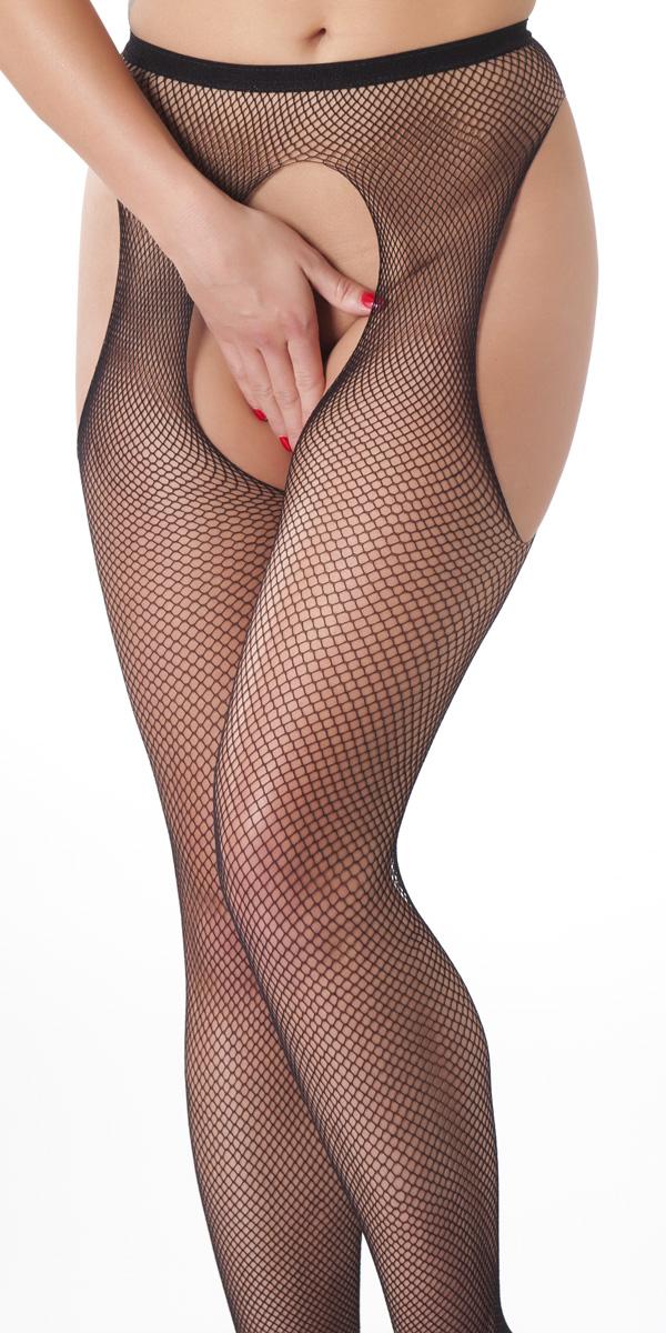 Black Open Top Fishnet Stockings