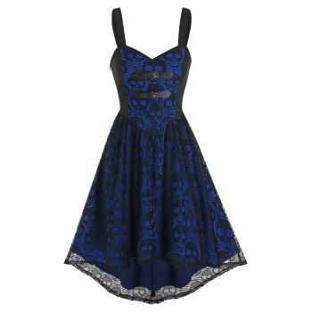 High Low Skull Lace Cami Gothic Dress