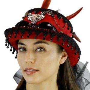 Burgundy Steampunk - Hat
