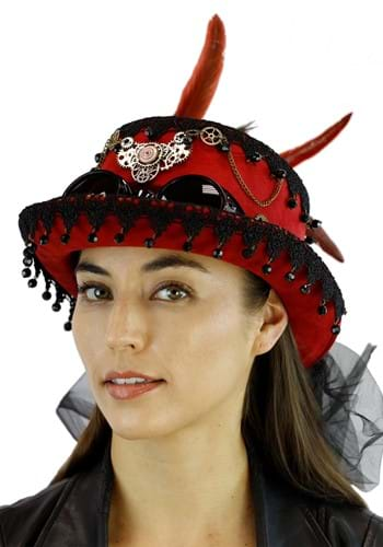 Burgundy Steampunk - Hat
