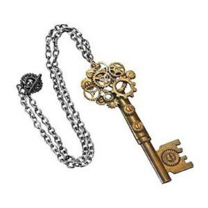 Large Steampunk Key Gear Necklace