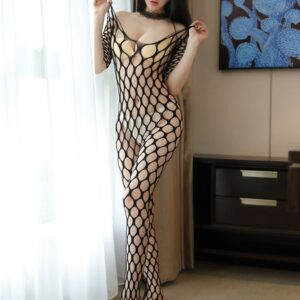 Ericdress Big Fishnet Off-Shoulder Sexy Pantyhose Body Stocking